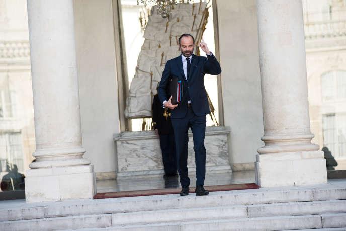 Edouard Philippe, premier ministre et ministre de l'intérieur par intérim, quitte l'Elysée, le 10 octobre.