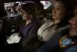 Keiko Fujimori, lors de son transfert depuis un commissariat de Lima où elle était détenue, le 10 octobre.