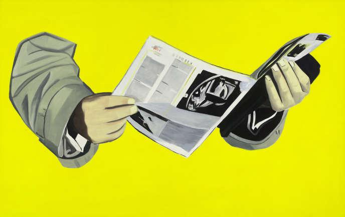« Le Quotidien» (1964), dePeter Stämpfli, huile sur toile.