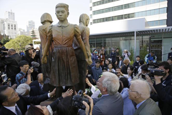 Lors de l'inauguration du monument, à San Francisco, le 22 septembre.