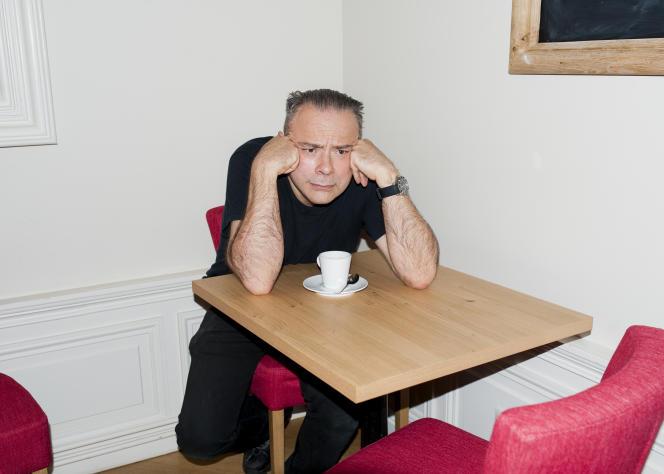 Thierry Ehrmann à la brasserie des Monts d'Or à Saint-Cyr-au-Mont-d'Or, le 21 septembre.