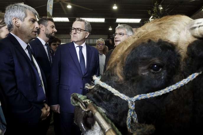Richard Ferrand visite le Salon européen de l'élevage, à Rennes, le 13 septembre.