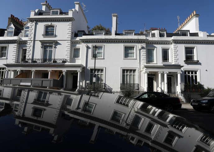 L'une des propriétés de Zamira Hajiyeva, l'épouse de Jahangir Hajiyev, ancien président de l'International Bank of Azerbaijan, dans l'opulent quartier de Mayfair, à Londres, le 10 octobre.