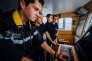 Etudiants de l'école navale de Lanvéoc.