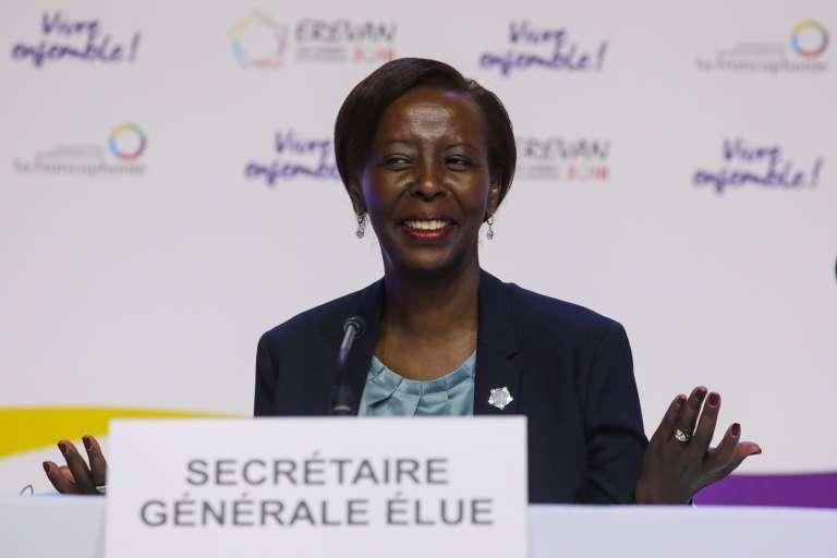 Louise Mushikiwabo est élue secrétaire générale de l'Organisation internationale de la francophonie (OIF), à Erevan, le 12octobre.