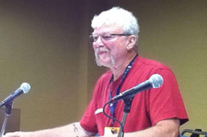 Le créateur de jeux de rôles Greg Stafford à la GenCon, en 2015.