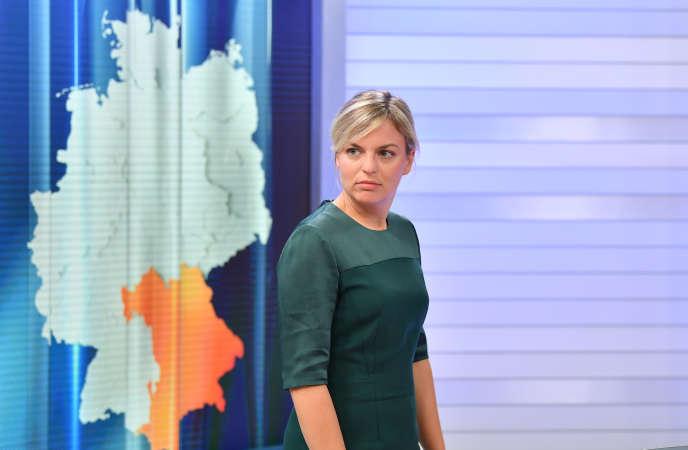 Katharina Schulze, tête de liste des Verts en Bavière, à Munich, le 14 octobre.