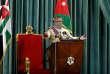 Le roi de Jordanie Abdallah II, devant le Parlement à Amman le 18 octobre.