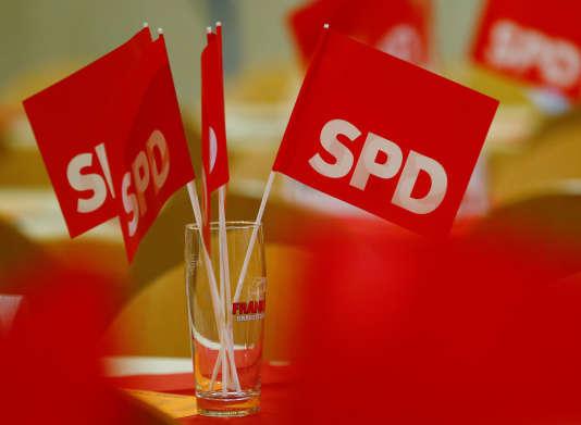 Lors d'une réunion électorale du parti SPD, à Schweinfurt, le 12 octobre.