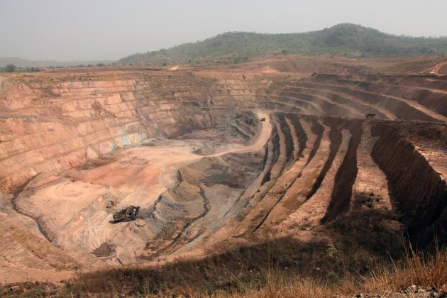 Le site d'exploitation de Nordgold à Lero, dans le nord-est de la Guinée.