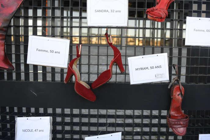 Manifestation contre le harcèlement sexuel, à Nantes (Loire-Atlantique), en novembre 2017.