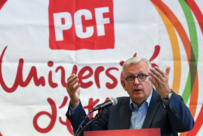 Pierre Laurent, secrétaire national du PCF, lors de l'université d'été de son parti, en août à Angers.