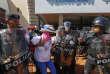 Arrestation d'un manifestant, à Managua, le 14 octobre.