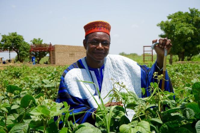 Victor Tiendrébéogo, chef traditionnel et cultivateur de «mung beans» au Burkina Faso.