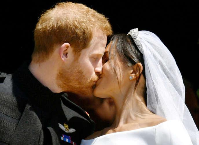Le prince Harry et Meghan Markle, le jour de leur mariage au château de Windsor, le 19mai 2018.