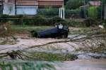 Les dégâts des inondations àVillegailhenc, dans l'Audele 15 octobre 2018.