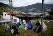 Des migrants vénézuéliens, àPamplona, en Colombie, en août.