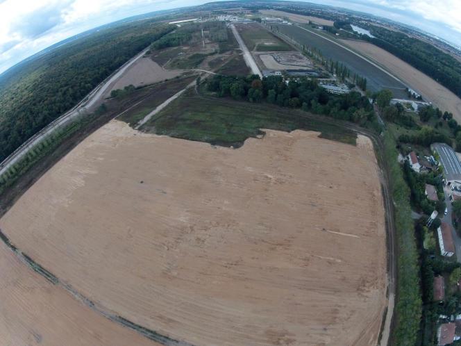Vue du parc agricole d'Achères (Yvelines), au niveau du Fort Saint-Sébastien, en 2011.