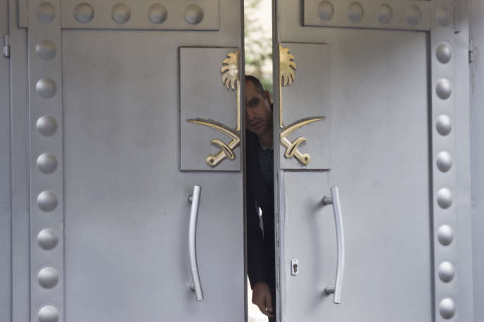 L'entrée de l'ambassade d'Arabie saoudite à Istanbul, le 14 octobre.