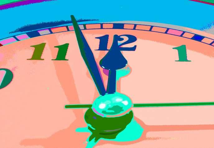 «L'Horloge de la fin du monde» («Doomsday Clock»).