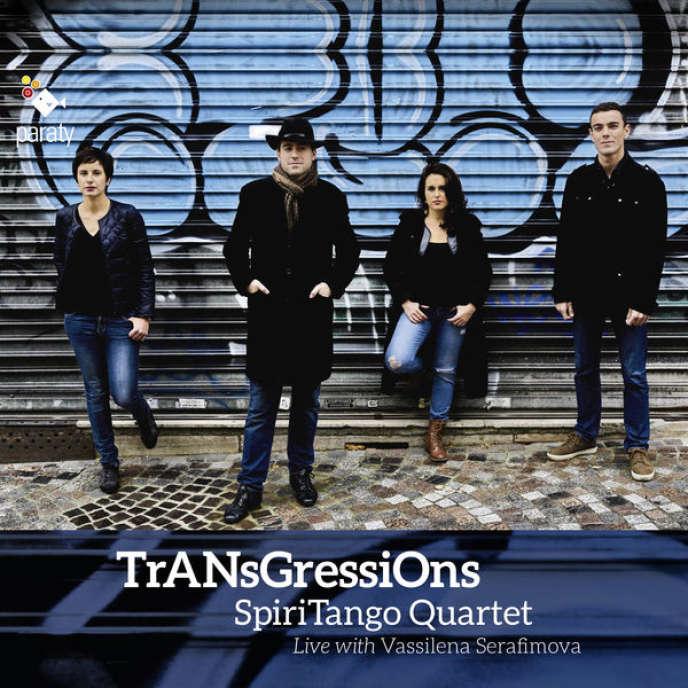 Pochette de l'album«TrANsGressiOnS», du SpiriTango Quartet.