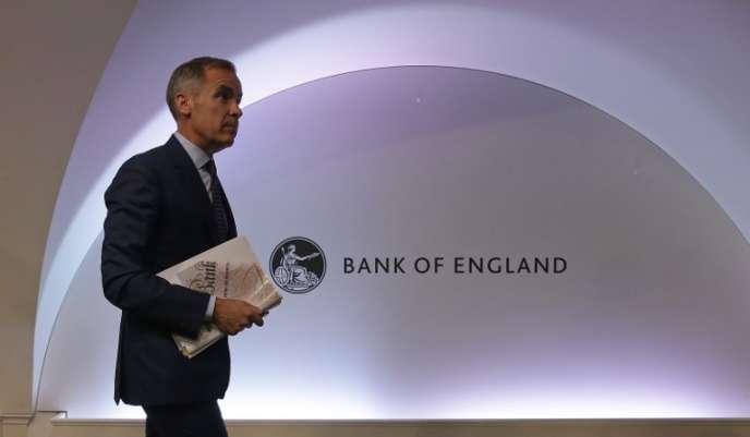 Le gouverneur de la Banque d'Angleterre, Mark Carney, en août, à Londres.