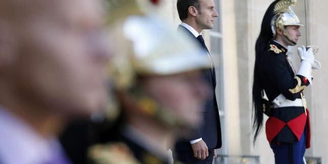 Emmanuel Macron à l'Elysée le 9 octobre.