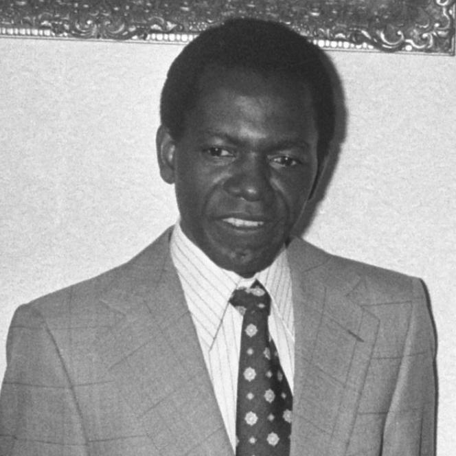 Le philosophe camerounais Fabien Eboussi Boulaga à Kampen, aux Pays-Bas, en 1974.