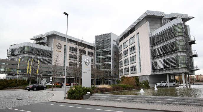 Le siège d'Opel, à Rüsselsheim (Hesse, ouest de l'Allemagne), en mars 2017.