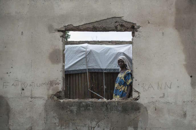 Dans le camp pour personnes déplacées de la ville de Rann, dans l'extrême nord-est du Nigeria, près de la frontière camerounaise, le 29 juillet 2017.
