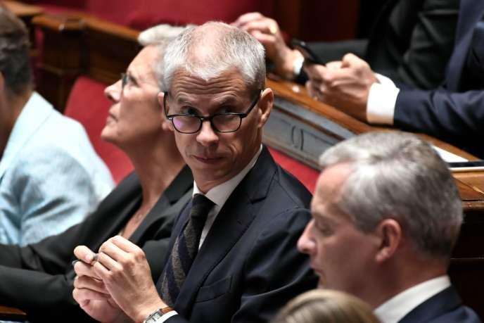 Franck Riester, mardi 16 octobre, à l'Assemblée nationale.