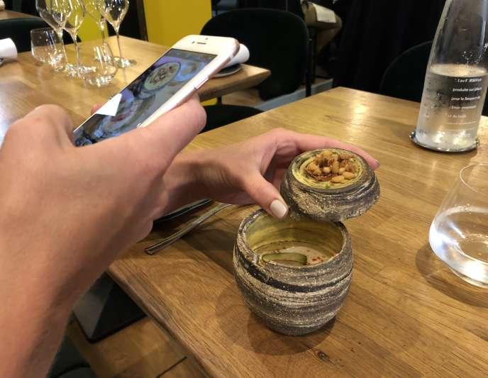 L'espuma de tofu de La Condesa, à Paris.