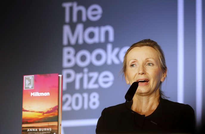 Anna Burns a donné un discours au Guildhall à Londres, le 16 octobre.