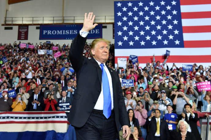 Le président américain Donald Trump, en meeting à Richmond (Kentucky), le 13 octobre.
