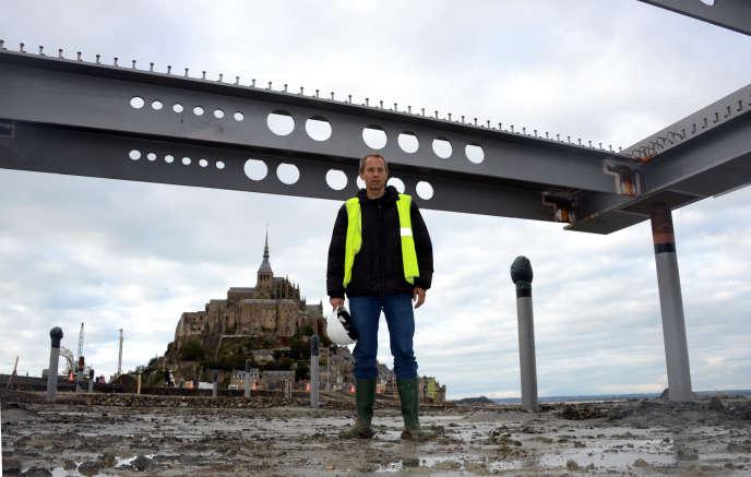 L'architecte du pont du Mont-Saint-Michel, l'Autrichien Dietmar Feichtinger, en 2012.