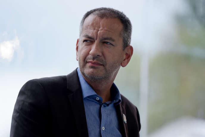 Le secrétaire confédéral de FO, Pascal Pavageau, à l'université d'été du Medef, à Jouy-en-Josas (Yvelines),le 29 août.