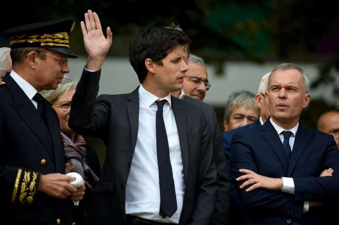 Julien Denormandie (au centre) le 10septembre.