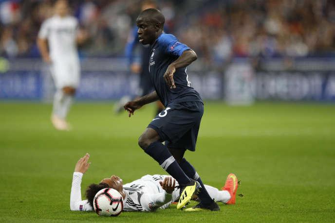 Le Français N'Golo Kanté lors du match face à l'Allemagne, le 16octobre 2018.