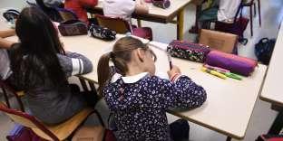 Rentrée scolaire dans une école primaire de Quimper (Finistère), en septembre 2017.