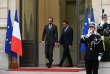 Le premier ministre, Edouard Philippe, lors de la passation des pouvoirs avec Christophe Castaner au ministère de l'intérieur, mardi 16 octobre.