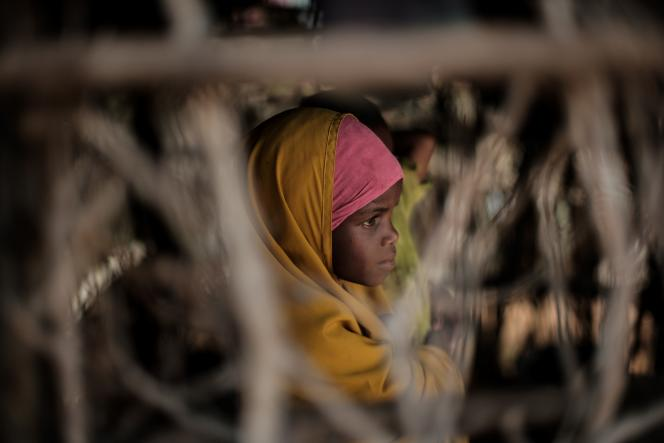Une jeune réfugiée soudanaise au camp de Dadaab, au Kenya, en avril 2018.