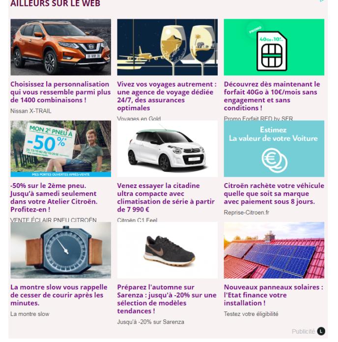Le site Santeplusmag.com a affiché un temps des publicités issues de Ligatus, un service de publicité en ligne. L'entreprise nous a indiqué ne plus collaborer, désormais, avec ce site.