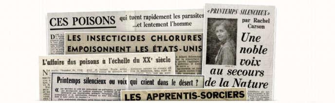Sélection d'articles de presse publiés pour la traduction française de «Printemps silencieux», de Rachel Carson.