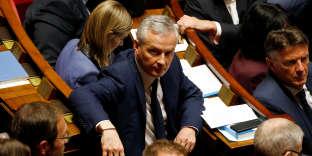 Bruno Le Maire, ministre de l'économie, à l'Assemblée nationale,le 16 octobre.