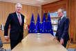 Le négociateur de l'UE pour le Brexit, Michel Barnier, et le président du Conseil européen, Donald Tusk, le 16 octobre à Bruxelles.