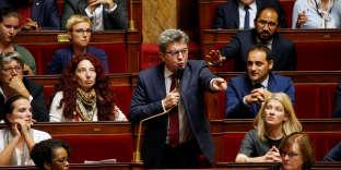 Jean-Luc Mélenchon, le 16 octobre, à l'Assemblée nationale