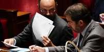 Edouard Philippe et Christophe Castaner, à l'Assemblée nationale, le 26 septembre.