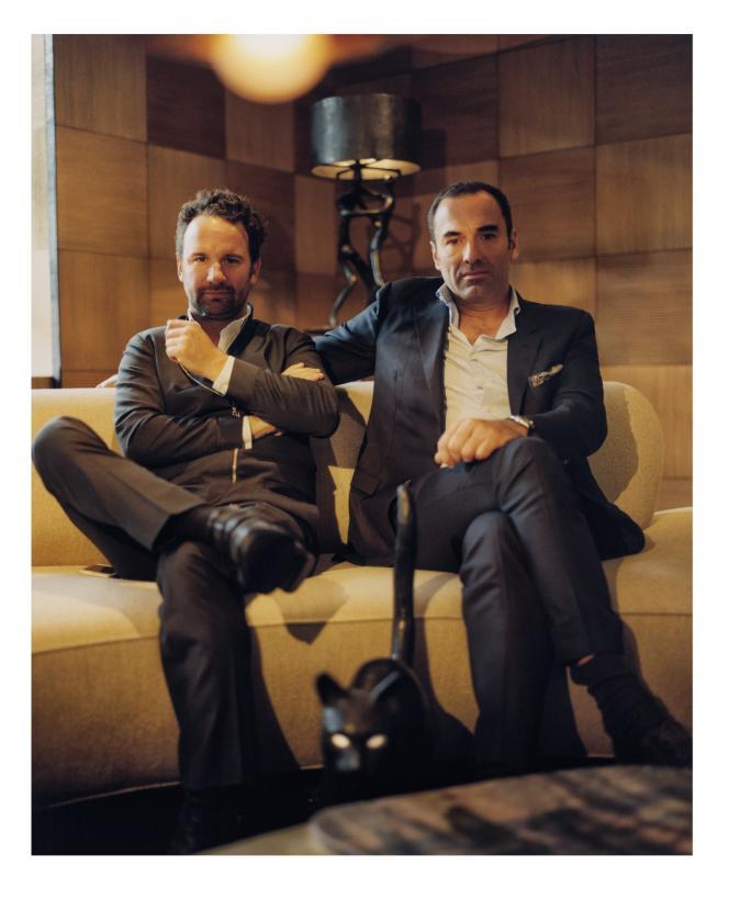 Julien Lombrail et Loïc Le Gaillard, le 3 octobre dans leur galerie londonienne.