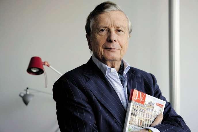 Le journaliste Alain Lefebvre (ici en 2012), propriétaire de la revue franco-belge Juliette et Victor, et cofondateur du Cercle Pol Vandromme.