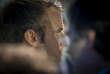 """Emmanuel Macron, président de la République, inaugure l'exposition """"Cités millénaires. Voyage virtuel de Palmyre à Mossoul"""" à l'Institut du monde arabe à Paris, mardi 16 octobre 2018 - 2018©Jean-Claude Coutausse / french-politics pour Le Monde"""